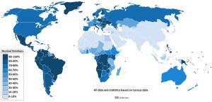 Mapa del cristianismo