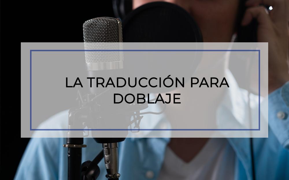 traducción doblaje